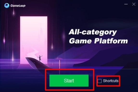 start screen GameLoop